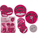 Party Button Bachelorette, ca. 6 cm 7er Set