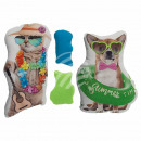 Deco Pillows , dog & cat, 100% polyester , app