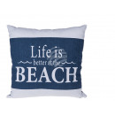 Blue / White Pillows, Life is better at the beach,