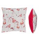Krém / pink Párnák, Flamingo, 100% Polyeste