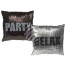 wholesale Cushions & Blankets: Silver / Black Sequin Pillows , Relax & Party,