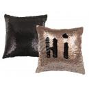 Champagne / Black Sequin Pillows , Glamor, m