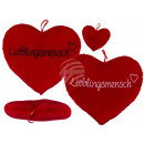 Red plush heart, favorite human, approx. 35 cm