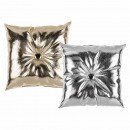 Pillows , PU metal look, 100% polyester , approx.
