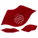 wholesale Cushions & Blankets: Red Deco Pillows , Kussmund, 100% polyester