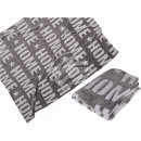 wholesale Cushions & Blankets: Gray Blanket with 3D effect, Home