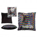 wholesale Cushions & Blankets: Rainbow Sequin Pillows , 50% PET & 50% Polyest