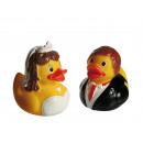 Canard en caoutchouc, Jeunes mariés, env. 8 cm, se