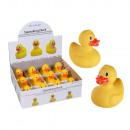 groothandel Speelgoed: Gele rubber duck, ongeveer 8 cm, 12 pct scherm
