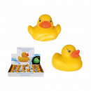 Yellow rubber duck with color changing LED, incl.