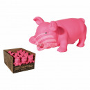 wholesale Food & Beverage: Pink squeaking pig, ca. 22 cm, 12 pcs. per display