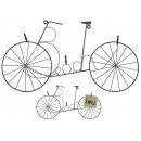 Grauer Metall-Zettelhalter, Fahrrad