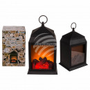 Plastic lantern, fireplace optics with 6 LEDs, app