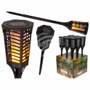 Plastic garden torch with solar cell & 60 LED,