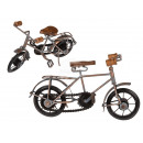 Deco wood / metal bike, silver / antique, about 30