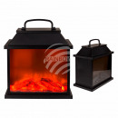 wholesale Burning Stoves: Plastic lantern in chimney look, with 6 warm white