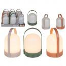 Großhandel Garten & Baumarkt: Lampe mit Henkel, LED & Timer, ca. 13 x 22 cm
