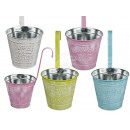 wholesale Flowerpots & Vases: Metal flowerpot, Flowers & Garden, with balcon