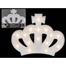 Weiße Kunststoff-Krone mit 15 warmweißen LED