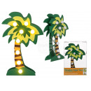 Green wood palm with 8 warm white LED, approx. 20
