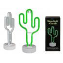 Grüne Kunststoff-Neon-Leuchte, Kaktus