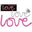 Pink neon lamp, Love, approx. 35 x 13 cm, for