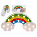wholesale Batteries & Accumulators: Plastic rainbow  with 16 warm white LED, approx. 3