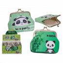 Großhandel Geldbörsen: PVC-Geldbörse, Panda, ca. 9 x 8 cm