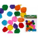 Bolas de pom pom coloridas, D: alrededor de 3 cm,