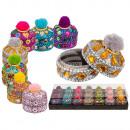 Colorful jewelry box with Pom Pom, about 3.5 cm, 7
