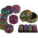 Colorful jewelry box with oriental design