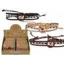 wholesale Jewelry & Watches: Leather / cotton bracelet, dream catcher, 3-fold s