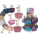 Großhandel Handtaschen: PU-Handtasche, mit Metallschlüsselanhän ger