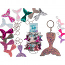Metal key chain, mermaid