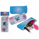 PVC pencil case, butterfly, with zipper