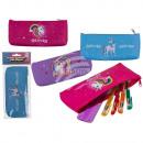 PVC pencil case, unicorn, with zipper