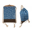 Blue Fashion Bag, anchor, with brown ground
