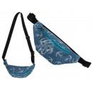wholesale Handbags: Blue fanny pack, anchor, 65% coton