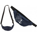 wholesale Handbags: Jeans fanny pack, Vintage anchor, 65% coton