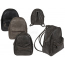 Synthetic leather backpack, front pocket, approx.