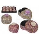 Heart shaped & round jewelery box