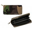Geldbörse, Camouflage, grün/braun, ca. 19 x 10 cm