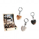 Metal Keychain, Worry Hearts Natural Stones