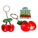Metal key ring, cherry, with LED & sound