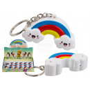 Metal key ring, rainbow, with LED