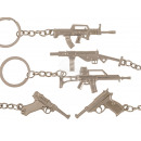 Metal key fob, rifle, about 5.5 cm