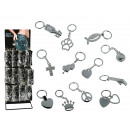 grossiste Porte-cles: Porte-clés  métallique,  Symboles, env. 9 ...