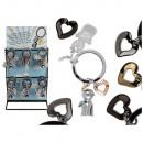 Metal Key Chain, guardian angel with heart, ca