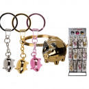 Metal Key Chain, Lucky Pig, 6 cm, 3-f