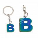 Fém kulcstartó, Rainbow Letter B